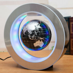 Magnetic Levitation Floating Earth Globe Map With O Shape Base LED Light Cool UK