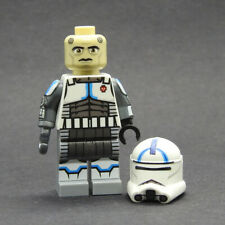 Custom Star Wars Clone Wars Echo S7 trooper minifigures on lego bricks