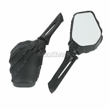 New listing Black Skull Rearview Mirrors For Kawasaki Vn Classic Nomad Drifter 1500 1600