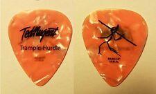Ted Nugent Signature Orange Pearl Guitar Pick - 2010 Trample Hurdle Tour