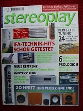 Stereoplay 9/01, Audio Physic Minos, JBL Ti K Sub, rel Stentor 3, Revel Performa b15