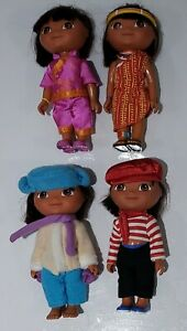 2006 Fisher-Price Dora the Explorer Dora's World Adventure  doll Lot of 4