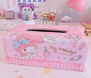 Cute My Melody PU Bathroom Home Office School Tissue Box Kleenex Cover Holder