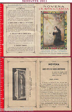 A180 SANTINO HOLY CARD LIBRICINO NOVENA SANTA S. RITA DEGLI IMPOSSIBILI