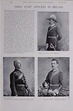 1897 BOER WAR IRELAND STAFF OFFICERS MAJ TRENCH LT COL BAGOT R.E LT.H.T. CANTAN