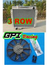 62mm 3 ROW For TOYOTA LAND CRUISER BJ40 BJ42 ALUMINUM RADIATOR+16''fan
