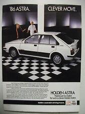 1986 HOLDEN ASTRA FORMULA FULLPAGE COLOUR MAGAZINE ADVERTISEMENT