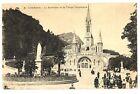 CPA 65 Hautes-Pyrénées Lourdes La Basilique et la Vierge Couronnée