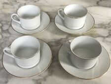 4 Mikasa Cups & Saucers Victorian Lace Pattern