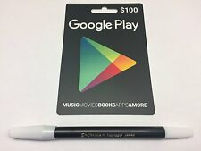 Google Play $100 Prepaid Gift Card Physical Card