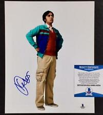 KUNAL NAYYAR Autograph BIG BANG THEORY Signed 8x10 Photo BAS Beckett COA Auto
