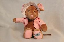 Harrods Hedgerow Pink Baby Girl Mouse Plush Toy Doll