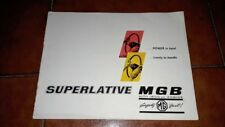 Brochure Leaflet Advertisement MG Mgb 1800 English 1963