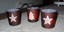 3 x Weihnachtliche Gläser zum Beleuchten