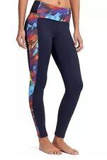 Womens Athleta NWT New Warm Leggings Lined Power Lift Pants Winter XS Blue Red