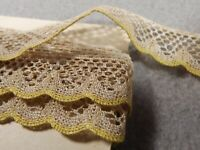 Antique Lace French Trims Edging Dolls Bears 2 yards 16 inches Scalloped Edge