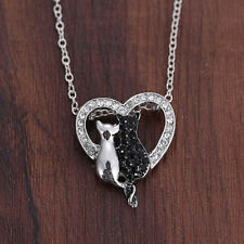 Lovely Cat Pendant Necklace Women Chains Bowknot Jewelry Valentine's Day Gifts