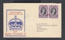 SIERRA LEONE 1953 QEII CORONATION FIRST DAY COVER FDC FREETOWN TO ENGLAND
