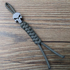 Titanium Ti Parachute Cord Knife Tool Lanyard Skull Bead/ Zipper pull CFZ6-Ti
