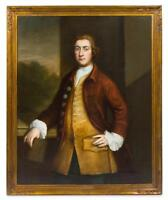 LARGE ANTIQUE British School 17th, 18th Century Portrait Painting of a Nobleman