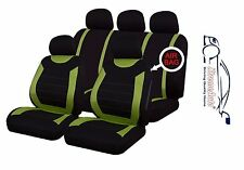 CARNABY GREEN FABRIC UNIVERSAL CAR SEAT COVERS PROTECTORS GIFT PRESENT