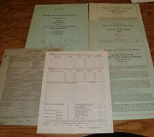 Original 1935 Plymouth Chrysler Dealer Manual Packet 35 Agreement Policies