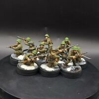 Well Painted 28mm Bolt Action Soviet siberian veteran squad ×10 #4 Ww2