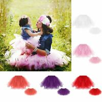 Women Girl Family Clothing Mesh Tutu Dress Mother&Daughter Princess Bubble Skirt
