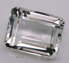 WHITE SAPPHIRE 10 x 8 MM EMERALD CUT ALL NATURAL DIAMOND COLOR