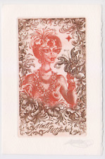 Exlibris from Elita Viliama - Nude woman  erotic