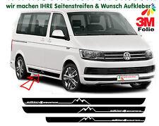 VW Bus T5 T6 EDITION 4 Mountain Camper Seitenstreifen Aufkleber Set - Campervan