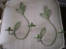 """2 Partylite """"Herbal Spring""""  Wall Sconce ~ green set make offer"""