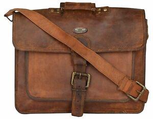 Women's Leather Shoulder Messenger Bag Briefcase Laptop Satchel Gift For Wife