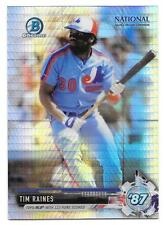 Tim Raines 2017 Bowman Chrome National Sports Collector Prizm Refractor NSCC