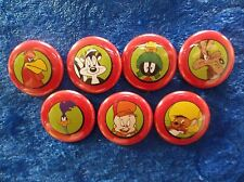 "1"" pinback buttons inspired  by ""Looney Tunes"" set 2  classic cartoons"