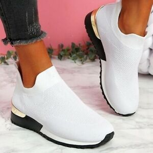 2021 Shoes Sneakers Women Shoes Ladies Slip-On Solid Color Sneakers female