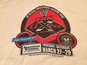 Wrestlemania XIX t-shirt XL WWE Fan Axess 2003 WWF Muscle Beach Fitness WCW AEW