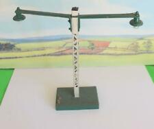 STATION LAMP DOUBLE LONG ARM  LAMP SCRATCH BUILT WORKING O GAUGE