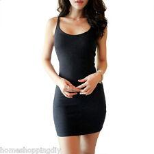 Summer Casual Dress Sleeveless Women's Tank Sexy Tight Cotton Mini Bodycon Slim