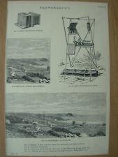Antico 1880 Vittoriano Stampa Fotografia Ross fotocamera universale-PANORAMICA