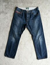 Mens SUPERDRY Jeans Size W34 L32 Loose Relaxed Straight leg Distressed Cinch