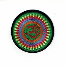 "3"" Rainbow Lotus Flower Om Iron On patch YOGA Aum infinity ॐ patches ohm"