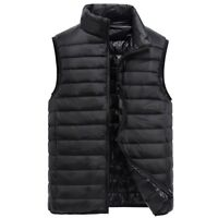 Portable Men's Ultra Light Down Vest Coat Cold Weather Gilet