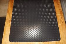 1/2 Thick Diamond Surface Anti Fatigue Industrial Mat 2' x 4'  Black