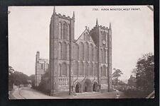 L@@K  Ripon Minster West Front 1940's ? Postcard Yorkshire
