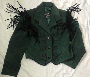 Vintage Western Style Suede Fringed Jacket M Boho Festival Hippie
