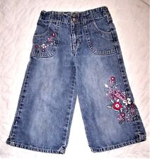 Girl's Size 6 Embroidered Front Blue Jeans