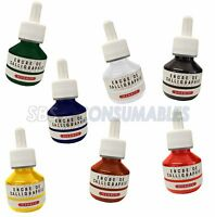 J.Herbin 50ml Bottle Calligraphy Drawing Ink .Eyedropper Pipette Lid. 7 Colours