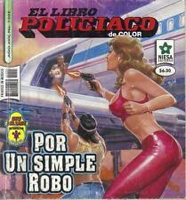 *EL LIBRO POLICIACO* POR UN SIMPLE ROBO- MEXICAN COMIC ~>SEXY<~ #1202