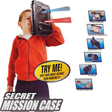 XMAS GIFT SPY AGENT SECRET MISSION CASE W/ 6 GADGETS KIDS TOY OUTDOOR INDOOR FUN